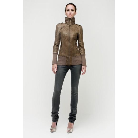 Mackage Jackets & Blazers - Mackage Nev Brown Leather Moto Jacket Medium